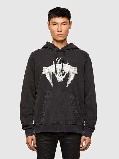Diesel - S-GIRRIB-HOOD-A71, Black - Sweaters - Image 1