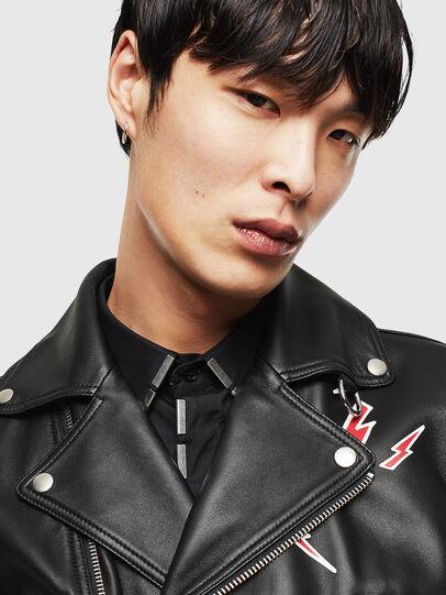 Diesel - CL-L-GOTIV-LITM, Black - Leather jackets - Image 4