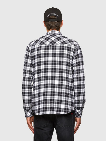 Diesel - S-EAST-LONG-CHK, Black/White - Shirts - Image 2