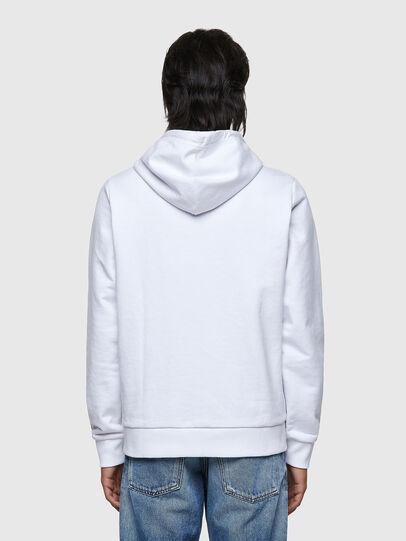 Diesel - S-GIRK-HOOD-ZIP-K1, White - Sweaters - Image 2