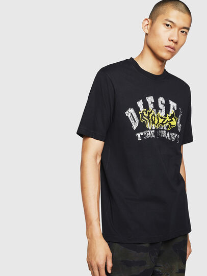 Diesel - T-JUST-B25, Black - T-Shirts - Image 1