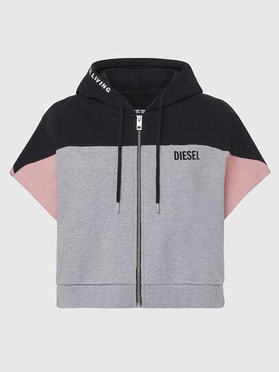 Diesel - UFLT-PHYLOSH-HOOD, Gray/Black - Sweaters - Image 1