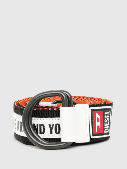 Diesel - B-RETA, Black/White - Belts - Image 1