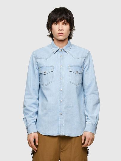 Diesel - D-EAST-P1, Light Blue - Denim Shirts - Image 1