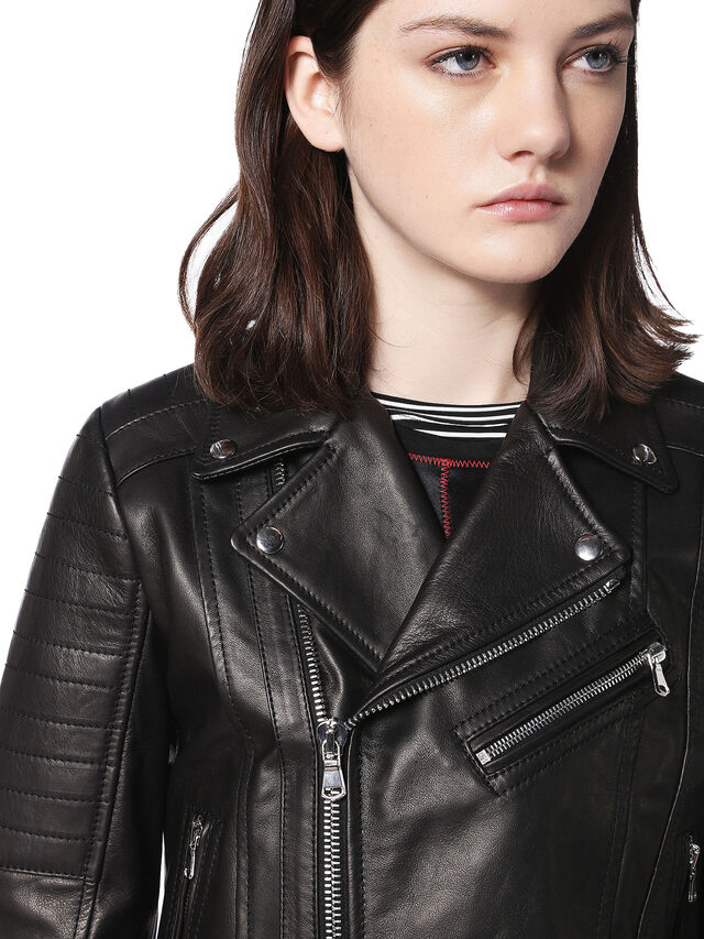 Diesel - LINEW, Black - Leather jackets - Image 7