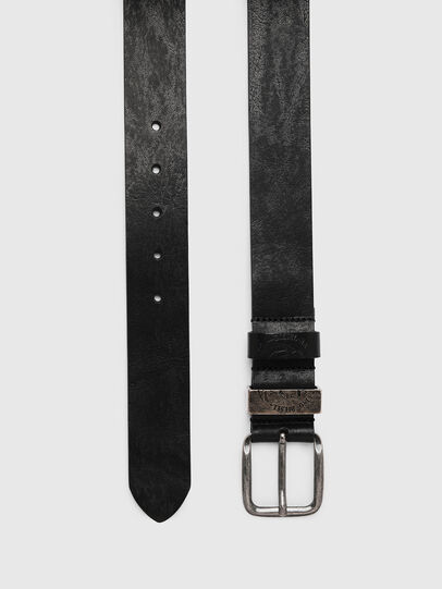 Diesel - B-FRAG, Black Leather - Belts - Image 3