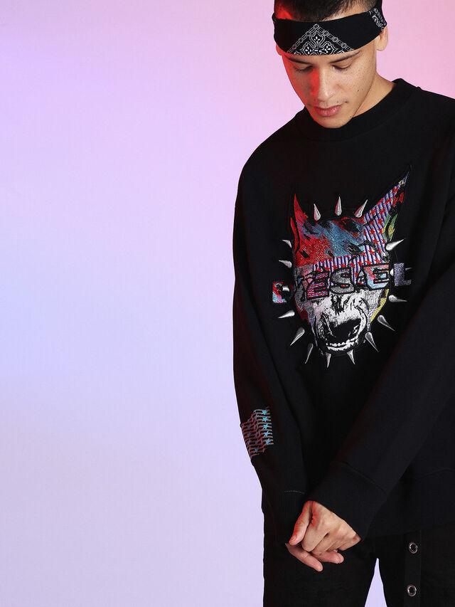 Diesel - LU-S-BAY, Black - Sweaters - Image 3