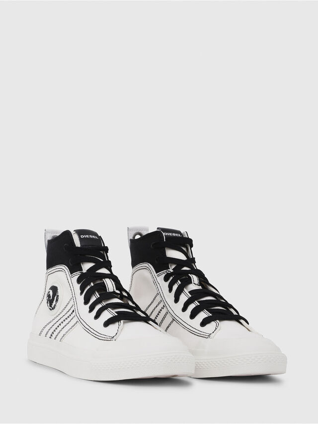 Diesel - S-ASTICO MID LACE, White/Black - Sneakers - Image 2