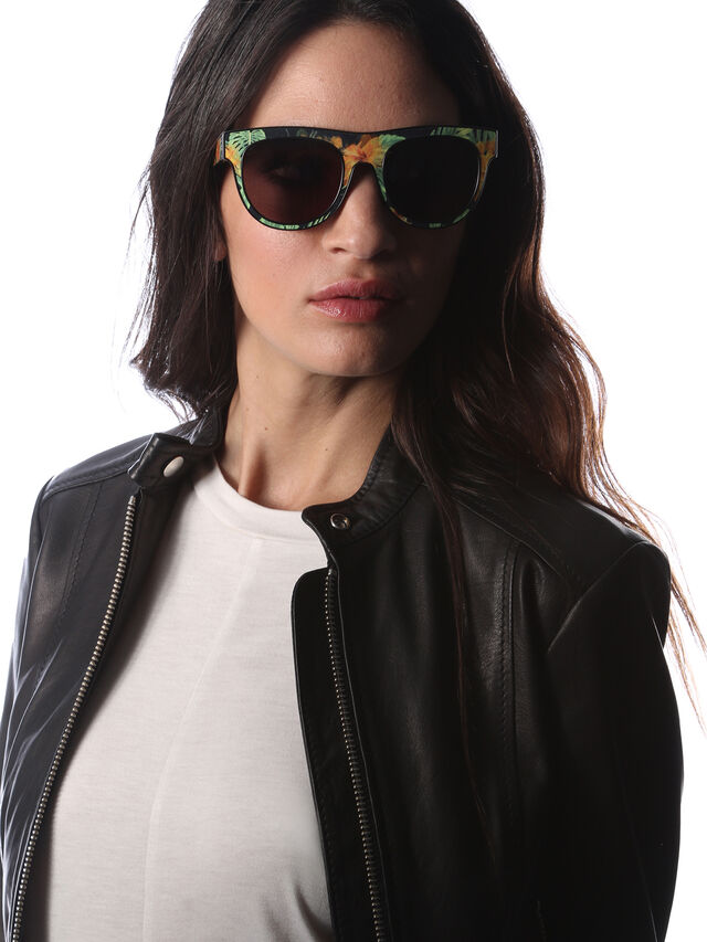 Diesel - DM0160, Black/Orange - Sunglasses - Image 6