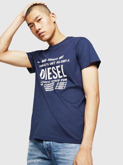 Diesel - T-DIEGO-B6, Blue - T-Shirts - Image 1