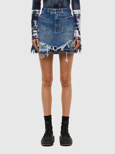Diesel - DE-JAUME, Medium blue - Skirts - Image 1