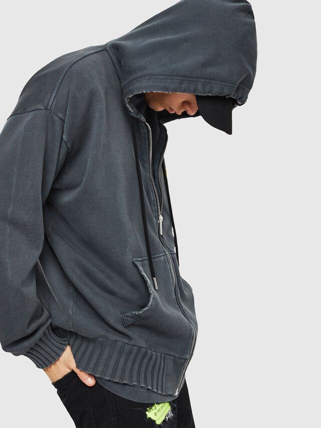 Diesel - DXF-S-ALBY, Black/Grey - Sweaters - Image 6