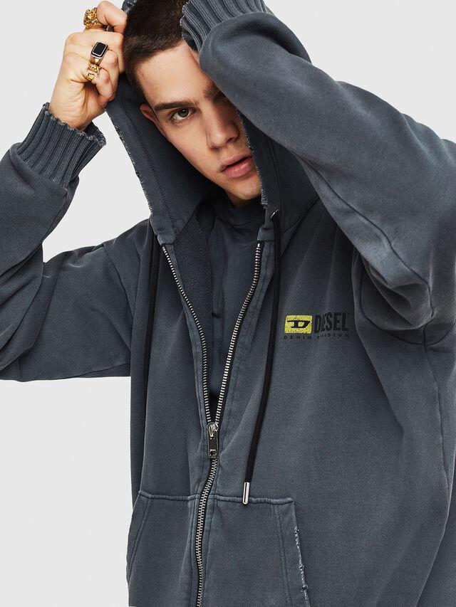 Diesel - DXF-S-ALBY, Black/Grey - Sweaters - Image 5