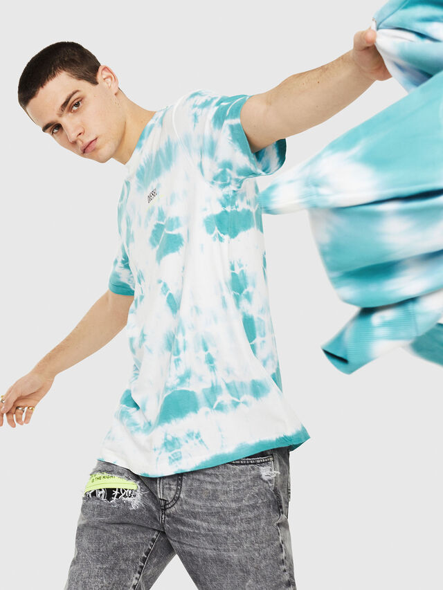 Diesel - DXF-T-JUST-2, White/Blue - T-Shirts - Image 4