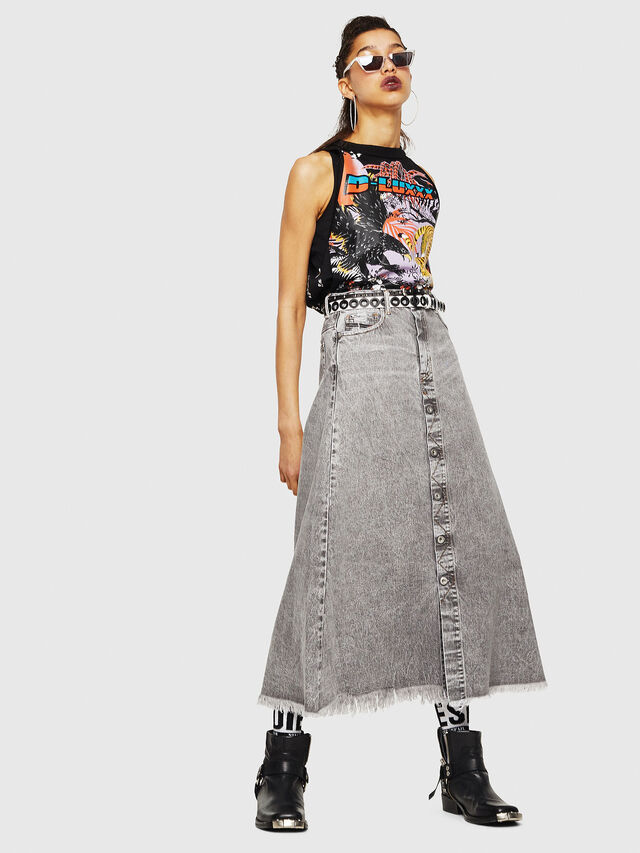 Diesel - DE-MARGY, Light Grey - Skirts - Image 5
