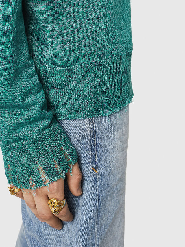 Diesel - K-SDRU, Green - Knitwear - Image 4