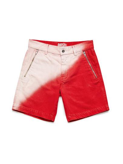 Diesel - GR02-P303, Red/White - Shorts - Image 1