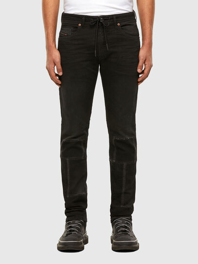 Diesel - Thommer JoggJeans 009IC, Black/Dark grey - Jeans - Image 1