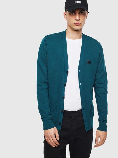 Diesel - K-TRASS, Dark Green - Knitwear - Image 1