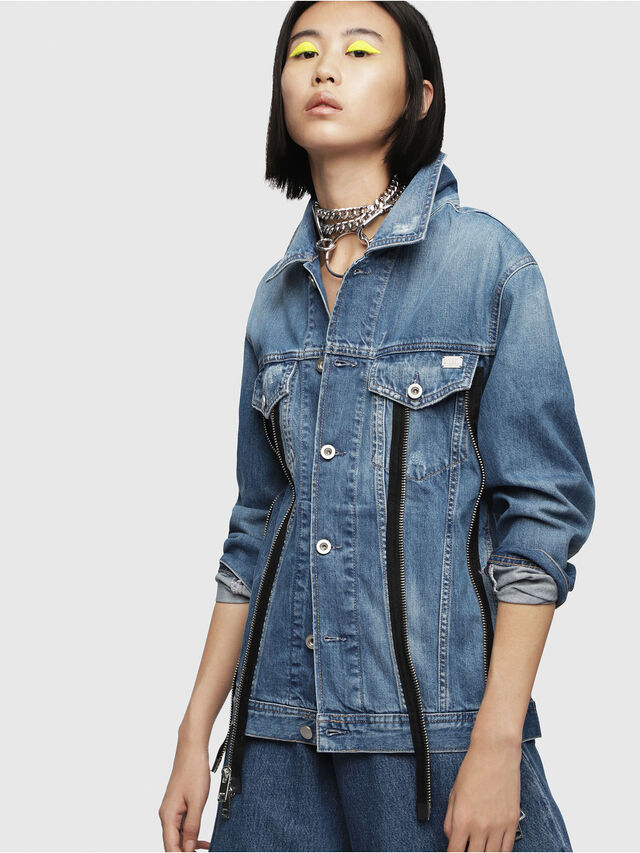Diesel - DE-LILAC, Blue Jeans - Denim Jackets - Image 1