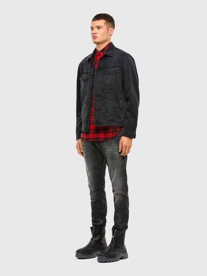 Diesel - S-EAST-LONG-CHK, Black/Red - Shirts - Image 5