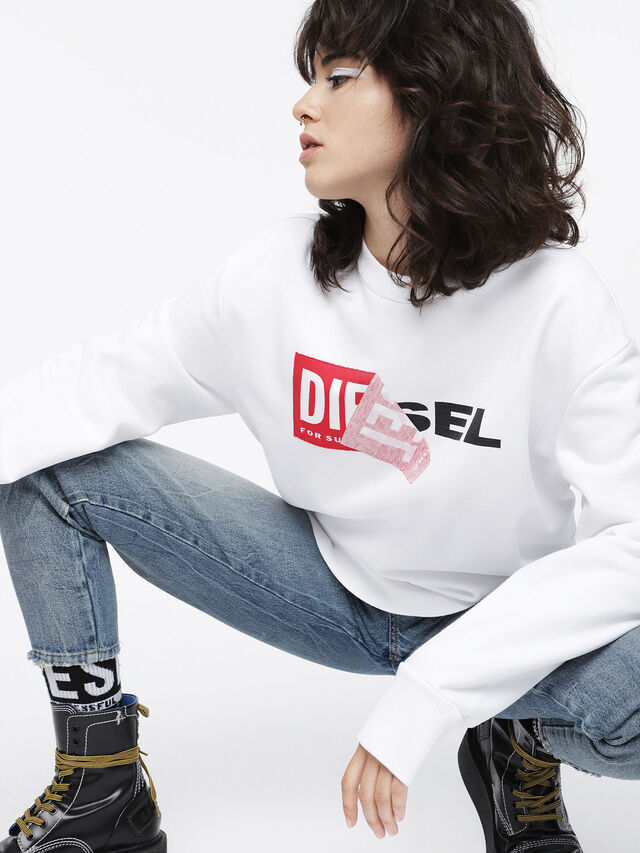 Diesel F-SAMY-FL, White - Sweaters - Image 3