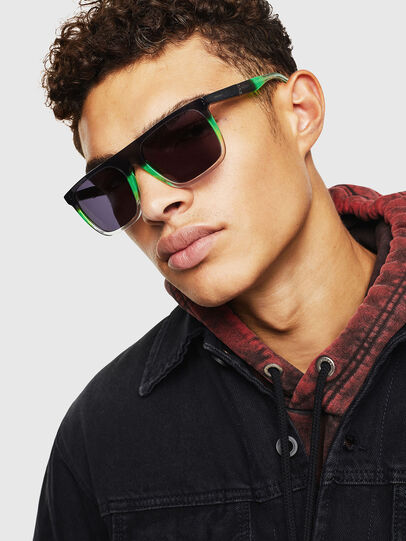 Diesel - DL0299, Black/Green - Sunglasses - Image 5