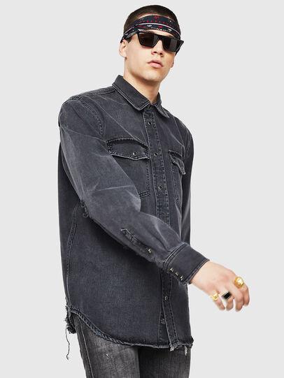 Diesel - D-ROOKE-L,  - Denim Shirts - Image 5