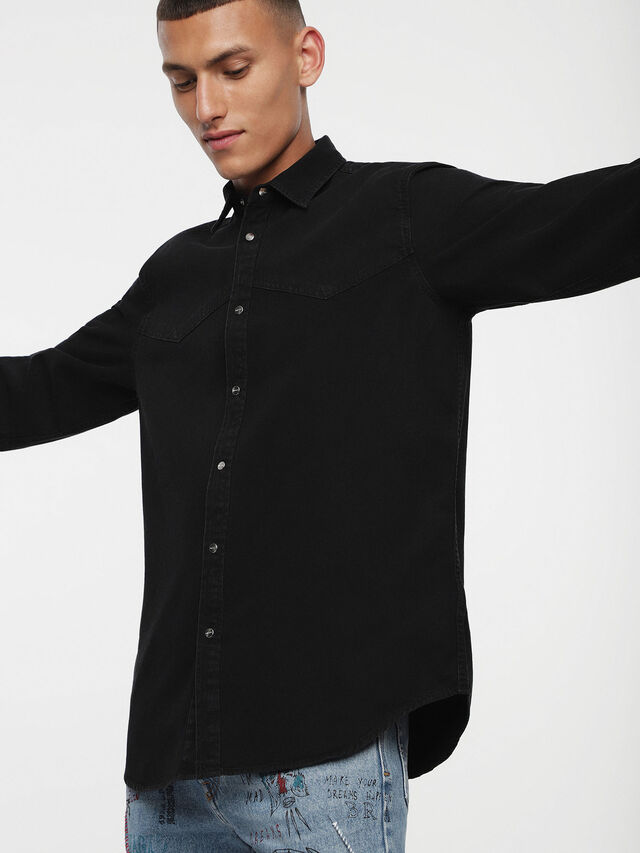 Diesel D-PLANET, Black Jeans - Denim Shirts - Image 1