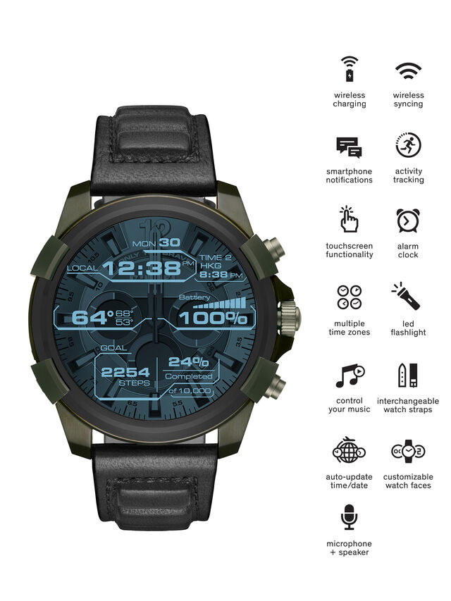 Diesel - DT2003, Military Green - Smartwatches - Image 1