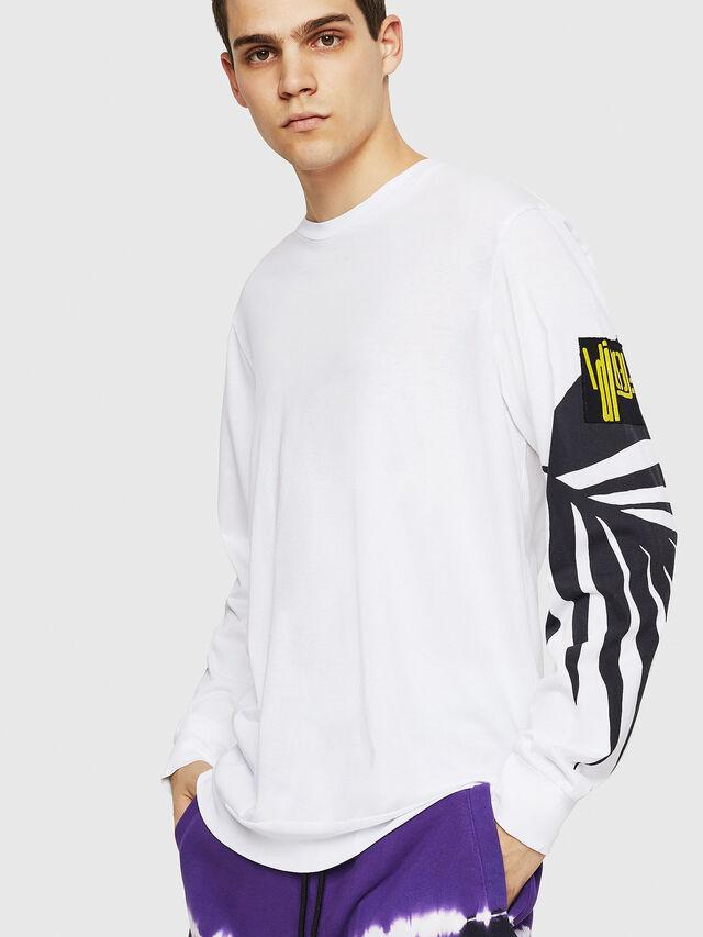 Diesel - T-JUST-LS-RIB, White - T-Shirts - Image 1