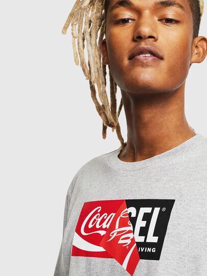 Diesel - CC-T-JUST-COLA, Grey - T-Shirts - Image 5
