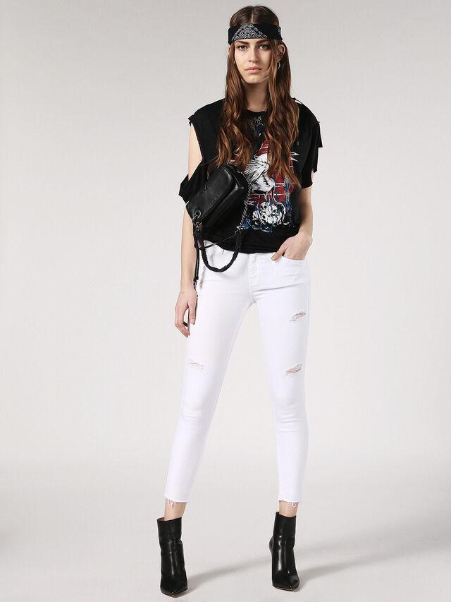 SLANDY-ANKLE 084EX, White Jeans