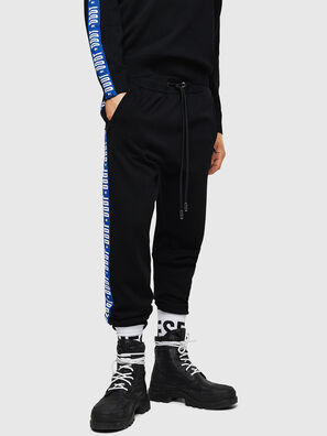 K-SUIT-B, Black/Blue - Pants