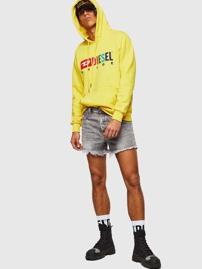 Diesel - S-GIR-HOOD, Yellow - Sweaters - Image 6