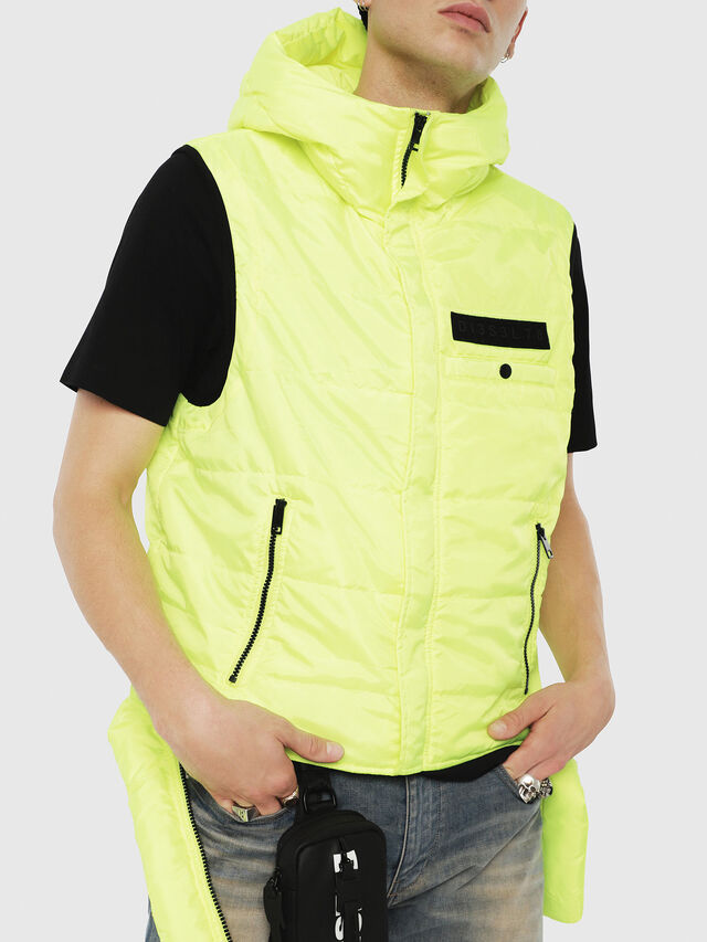 Diesel - W-SUN-REV-SLESS, Yellow Fluo - Winter Jackets - Image 1