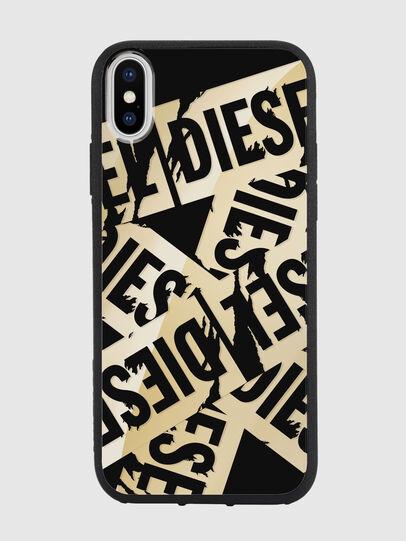 Diesel - MULTI TAPE GOLD/BLACK IPHONE X CASE, Gold - Cases - Image 2