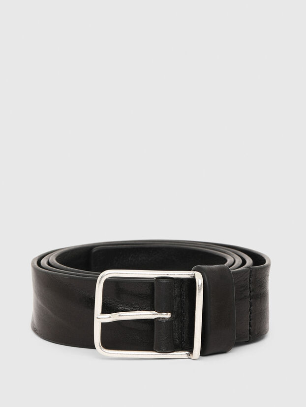 B-SILVER, Black - Belts