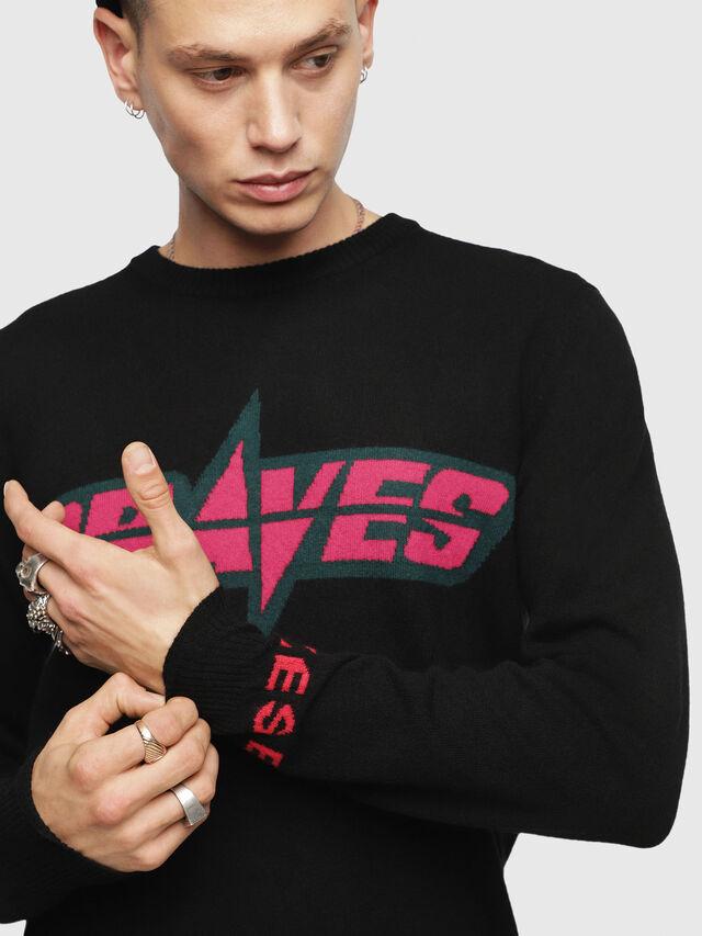 Diesel - K-COOL, Black/Pink - Knitwear - Image 3