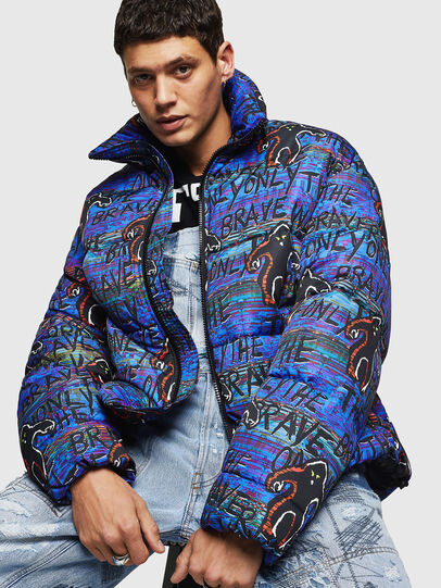 Diesel - W-PIATIG-MONSTER, Blue/Black - Winter Jackets - Image 4