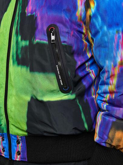 Diesel - W-ON-AOP, Blue/Green - Winter Jackets - Image 5
