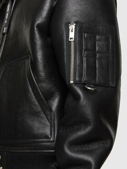 Diesel - L-ARNOLD, Black - Leather jackets - Image 5