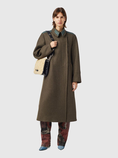 Diesel - W-AGATHE, Olive Green - Winter Jackets - Image 1