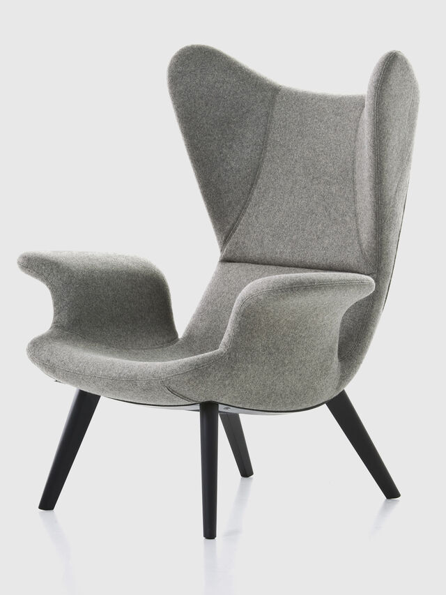 Living DL2H05 LONGWAVE, Grey - Armchairs - Image 1