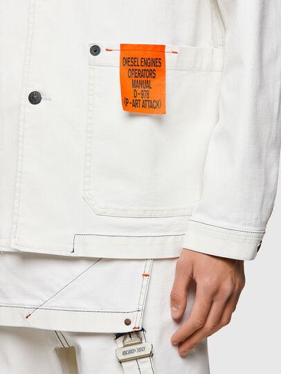 Diesel - D-ROLK-SP2, White - Denim Jackets - Image 3