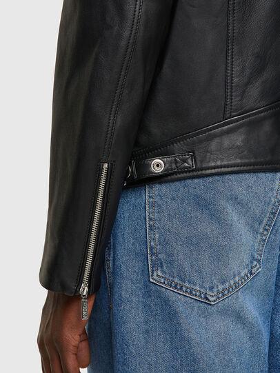 Diesel - L-CASE-KA, Black - Leather jackets - Image 3