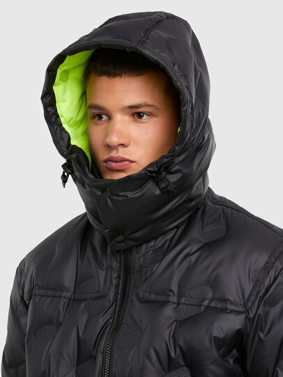 Diesel - W-RUSSELL-LONG-THERM, Black - Winter Jackets - Image 3
