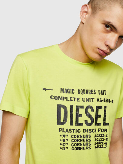Diesel - T-DIEGO-B6, Yellow Fluo - T-Shirts - Image 3