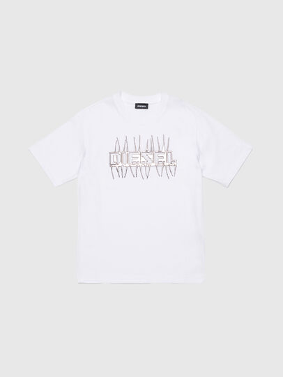 Diesel - TJUSTJ11 OVER, White - T-shirts and Tops - Image 1