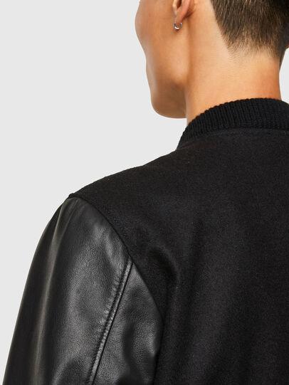 Diesel - L-ROGER, Black - Leather jackets - Image 4
